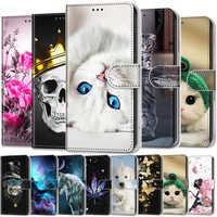 Leder Fall Für Samsung Galaxy J3 J5 2017 J3 2016 J4 2018 J4 Core j4 Plus Fall Luxus Brieftasche Flip abdeckung Ständer Warenkorb Slot Halter