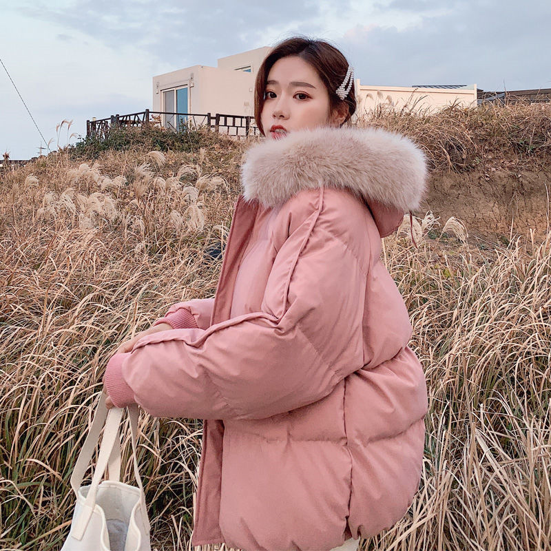 Faux Fur Collar Coat Down Cotton Padded Hooded   Parkas   Women Casual Loose Thick Warm Female Outerwear Winter Plus Size Overcoat