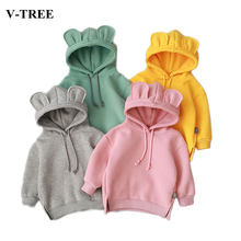 2019 Winter Children's Sweater Fleece Jacket For Girls Warm Girls Hoodies Long Sleeve Toddler Sweatshirt Baby Outerwear(China)