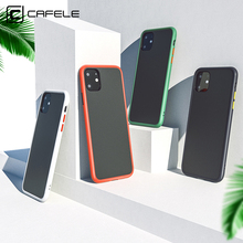 CAFELE 2019 newest color clashing case for iphone 11 / pro max silicon+PC translucent