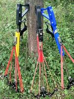 New Slingshot Hunting Bow Powerful Catapult Fishing Reel Multifunction Steel Ball Ammo Arrow Shooting Sightscope Crossbow
