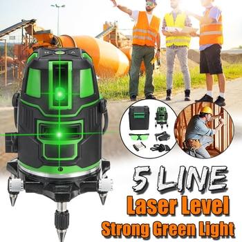Powerful Green Light 5 Lines Laser Level Automatic Self Leveling 360 Vertical Horizontal Tilt Cross Line w/Outdoor Mode New