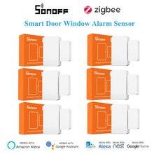 1-30 pièces SONOFF Zigbee SNZB-04 Intelligent Capteur D'alarme De Fenêtre de Porte De Sécurité À La Maison, Soutien eWelink SONOFF ZBBridge Google Home Alexa
