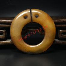 Xiuyu jade ring,cassock jade ring old pendant, exquisite handicraft jewelry(China)