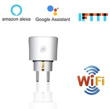 Gratis Pengiriman Uni Eropa Wifi Smart Plug Remote Control Soket 16A Tuya Nirkabel Smart Power Socket Suport Alexa Google Home Mini ifttt(China)