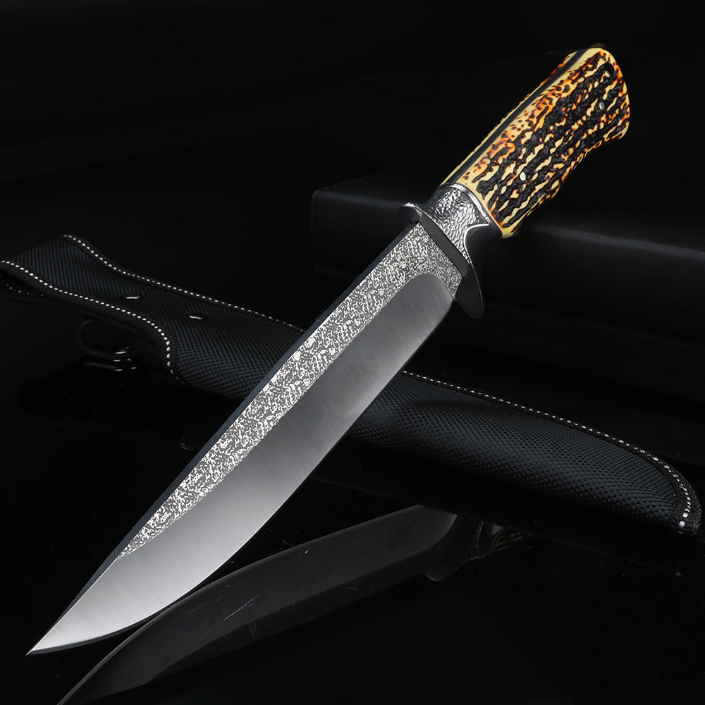 Outdoor short knife wild survival straight knife high quality hunting knife fixed blade knife camping EDC tool knife
