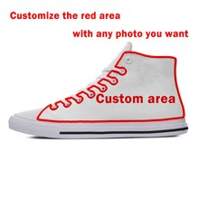 Custom Shoes 2019 New Hot Fashion Classical Breathable Lightweight DIY Sneakers Print Any Photo You Want Casual Shoes(China)