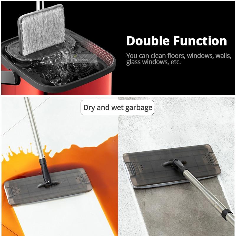 Elettrico ricaricabile Rotary Mop 360 gradi di Rotazione Senza Fili Floor Cleaner Scrubber Lucidatore di Pulizia di Microfiber Mop per la Casa - 4