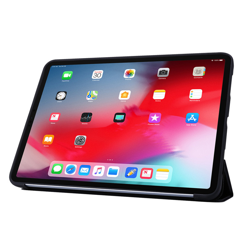 PU 11Pro For Tri-fold Case Cover 2020 Case Silicone Soft iPad For Case Leather Smart