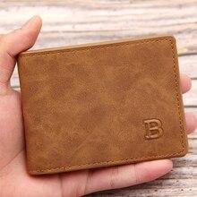 men's Wallet Short Multi-card Coin Purse Fashion Casual B Wallet Male Zipper Thin Two-fold Horizontal Soft Wallet Men 2021 New