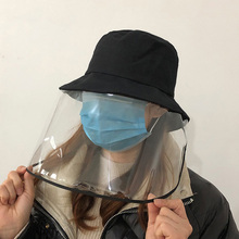 Anti droplets Hat Protective Face Shield Cover Hat Anti Spitting Saliva Drool Fisherman Cap Detachable Clear Facial Mask Sun Hat