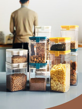 Food Storage Container Plastic Kitchen Refrigerator Noodle Box Multigrain Tank Transparent Sealed Cans