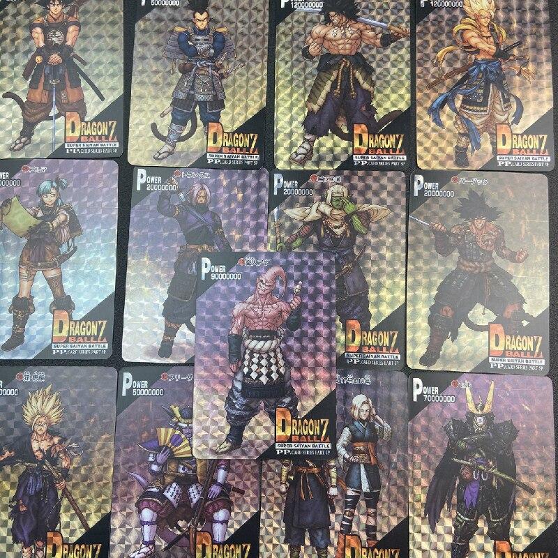 13pcs/set Dragon Ball Z Goku Dragon Ball Samurai Game Action Toy Figures Commemorative Edition Collection Cards Free Shipping