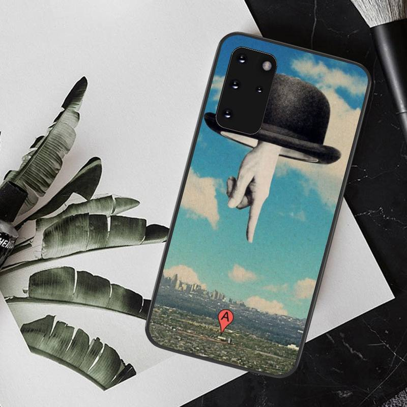 NBDRUICAI Rene Magritte Bling Cute Phone Case for Samsung S20 plus Ultra S6 S7 edge S8 S9 plus S10 5G
