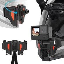Supporto per cinturino pieghevole per supporto per casco da moto supporto per sottogola regolabile per Gopro Hero 9 8 7 6 accessori per fotocamere Insta360