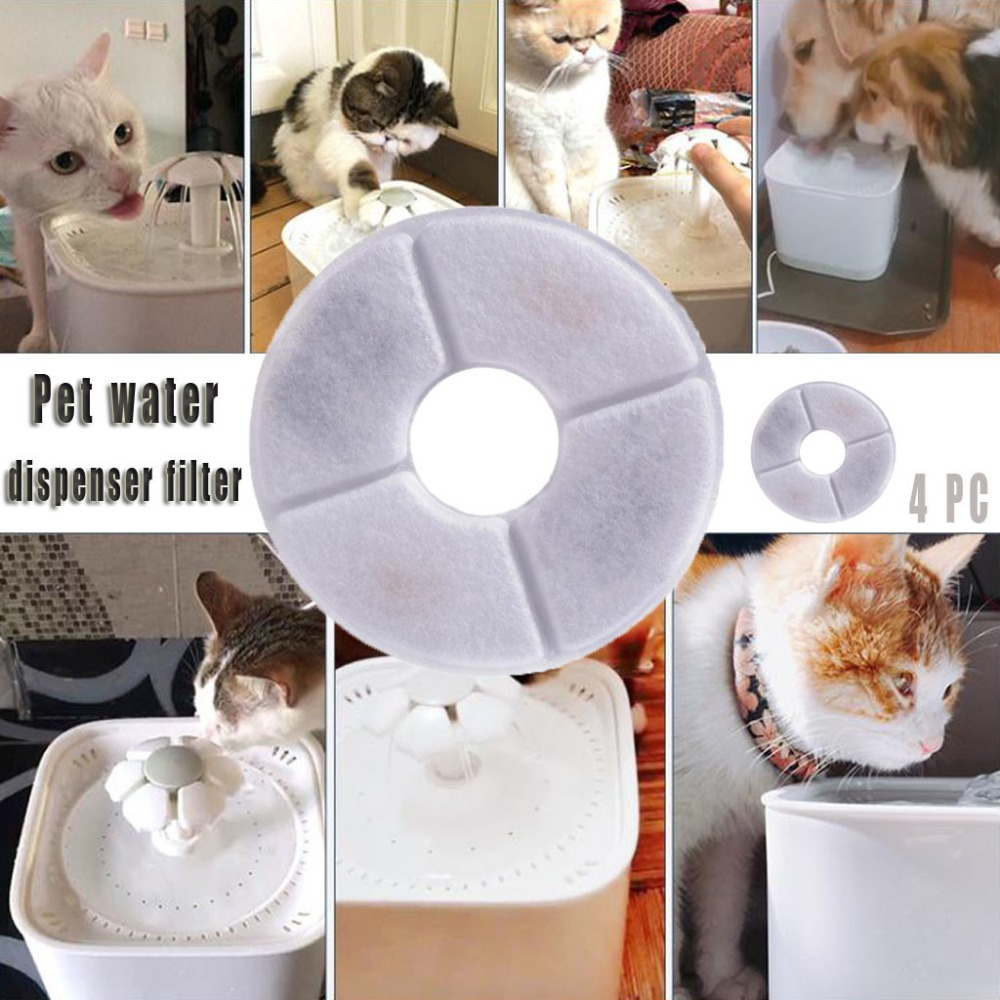 Pet Water Replacement Filters Cat Dog Drinking Bowl Flower Style Automa Pets Filte Dispenser Pet Supplies (2)