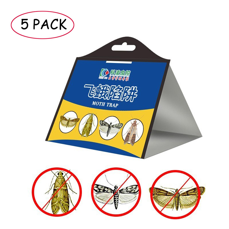 5pcs Fly Moth Trap Pest Control Effective Moth Killer Mole Repeller Pest Reject Fly Trap Insects Eco-friendly For Home Outdoor