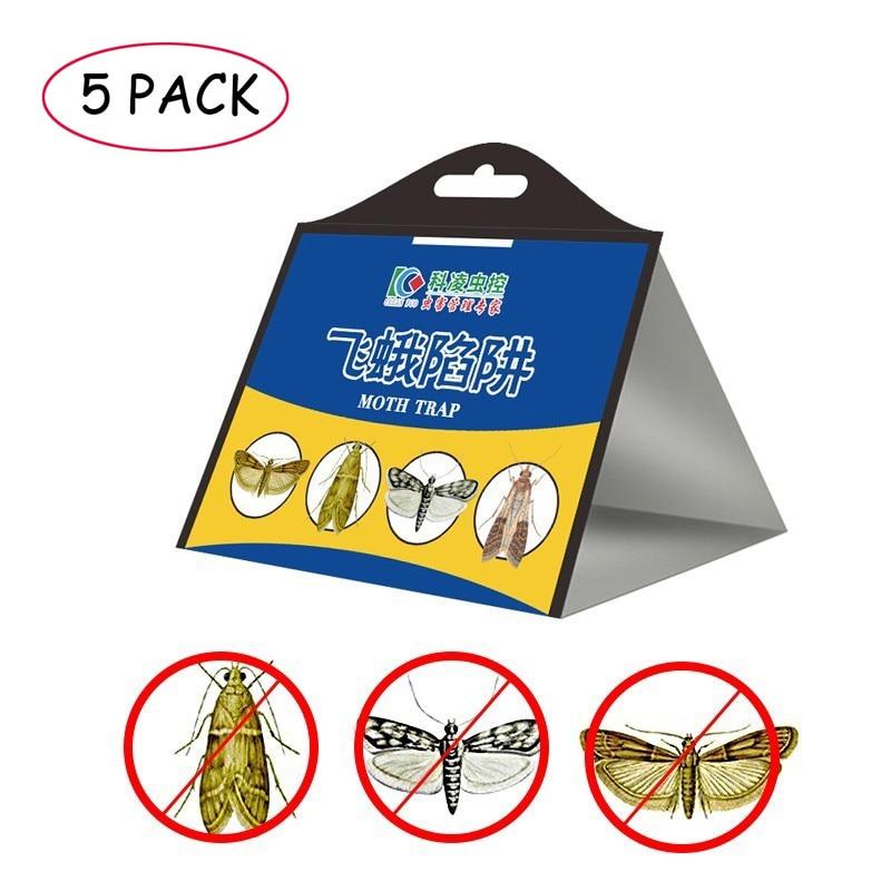 Ловушка для насекомых, эффективный отпугиватель моли для дома и улицы, ловушка для насекомых, 5 шт.