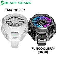Original Schwarz Shark FunCooler fan kühler Flüssigkeit Typ C RGB Für xiaomi iPhone Für Android handy iOS 67 88mm handys Lüfter