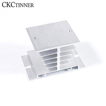 цена на 1pcs 10A-40A relay  Single Phase Solid State Relay SSR Aluminum Heat Sink Dissipation Radiator Newest,Suitable