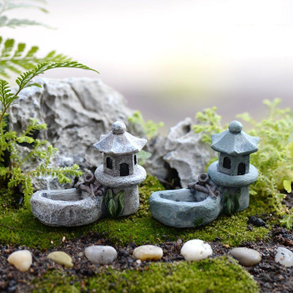 Miniature Dollhouse Resin Micro Mini Fairy Home Garden Pond Accessories MA
