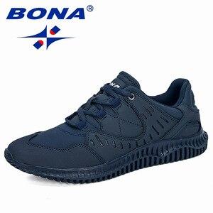 Image 5 - BONA 2019 New Designers Uomini Spaccato Della Mucca Casual Scarpe Uomo scarpe Outdoor A Piedi Scarpe Da Ginnastica Tenis masculino Zapatillas Hombre Maschio Alla Moda