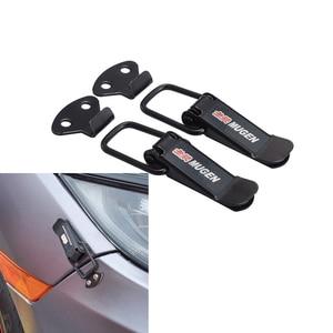 2PCS Security Hook Lock Clip Kit Car Quick Release Bumper Buckle Fasteners Trunk Front Rear Fender Bumper Hatch Buckle Fastener