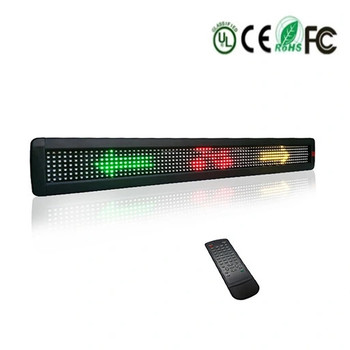 цена на New Cheap Remote Control display Board Scrolling Programmable 7*80Dots RS232 LED Sign Moving Message Display  for Business