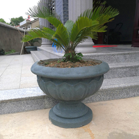 62cm (24.41in) GRC Durable ABS Home Gardening Bottom Casting Round Cup Shape Bonsai DIY Round Concrete/ Cement Flower Pot Mold