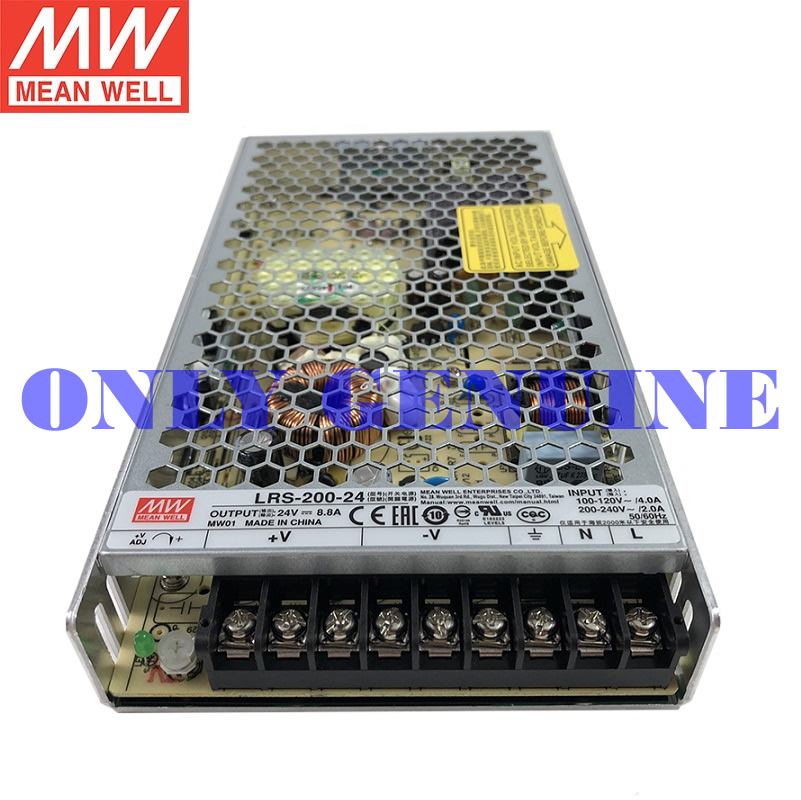 mean well enclosed power supply LRS-200-3.3/4.2/5/12/15/24/36/48 24V 36V 48V 200W power supply 0-40A image