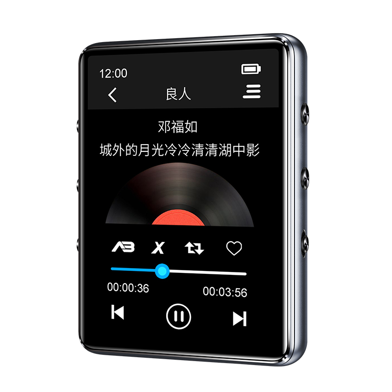 Mp3-Player Fm-Radio Bluetooth Recording E-Book Video-Playback Built-In-Speaker Metal