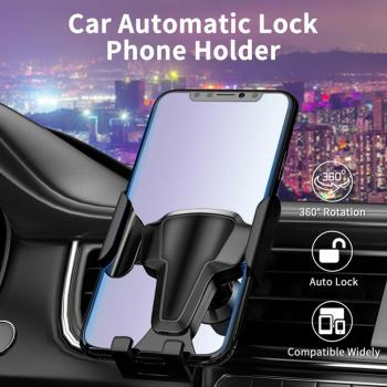 Car Vehicle Air Vent Mount Gravity Lock Up Mobile Phone Holder Stand Bracket image