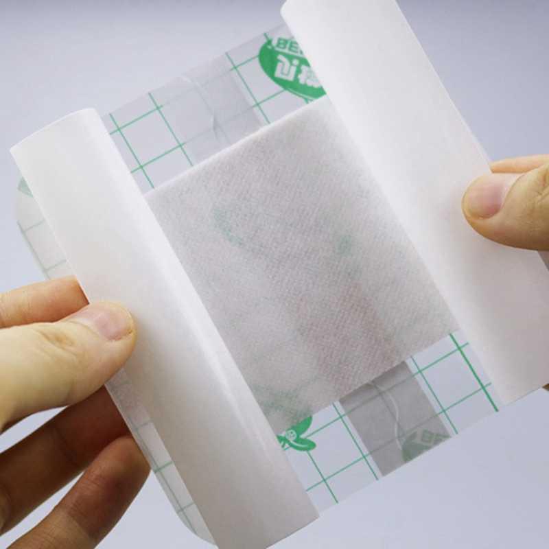 20 Stks/set 10*10 Cm Grote Maat Hypoallergeen Non-woven Zelfklevend Wondverband Band Aid Bandage Wond Eerste aid