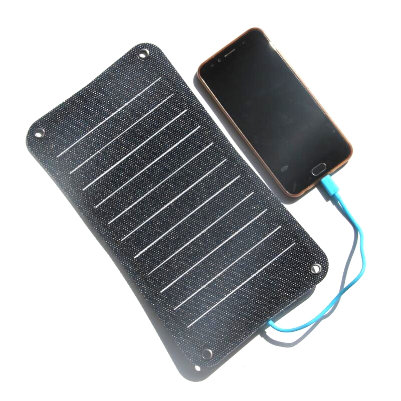 BUHESHUI ETFE 10W 5V Portable SolarPanel Charger For Mobile Phone Sunpower Solar Battery Charger Semi-flexible image