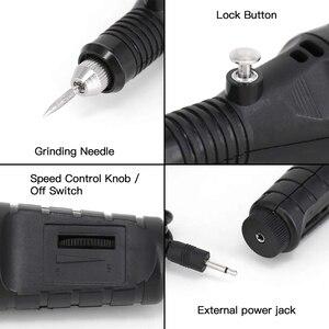 Image 5 - חשמלי מיקרו חריטת עט מיני Diy חריטת כלי ערכת מתכת זכוכית קרמיקה פלסטיק עץ תכשיטי עם מהדק חרט 30 קצת ו