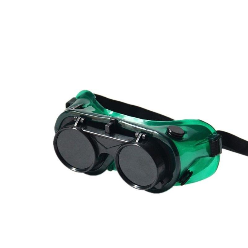 Durable Soldering Safety Lenses Welding Glasses Flip-Up Brazing Soft Frame Eyes H37E