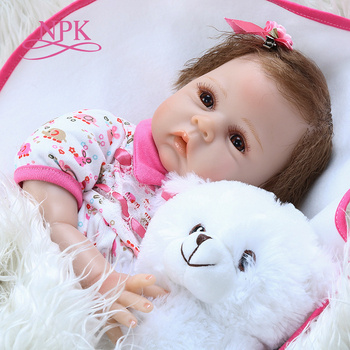 50CM newborn cuddly baby doll reborn doll baby realistic silicone real soft touch hand rooted hair real weighted doll