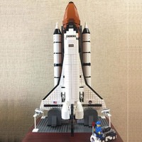 16014 1230pcs compatible with 10231 space shuttle rocket shuttles out of print children's assembled building blocks toy gift