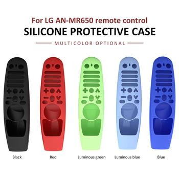 Silicone Remote Control Protective Cover Shockproof Case Remote Controller Cover For Amazon LG AN-MR600 MR650 MR18BA MR19BA image