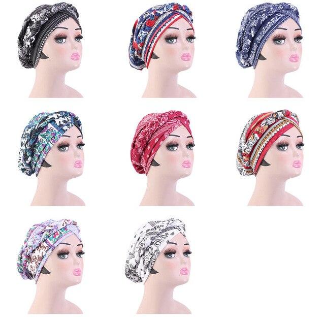 Новая оплетка головной убор шапки печать твист платок Рак химиотерапия