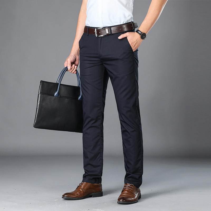 Бренд BROWON, мужские повседневные брюки средней длины, мужские прямые рабочие брюки из бамбукового волокна, мужские летние тонкие брюки больш...