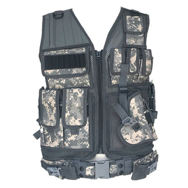 Army Tactical Equipment Military Molle Vest Hunting Armor Vest Airsoft Gear Paintball Combat Protective Vest For CS Wargame 8 3