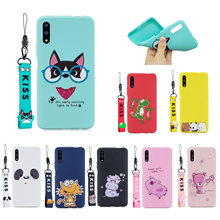 3D Kawaii Lanyard silicone Cover for xiaomi redmi K20 pro note 8T 8A 7A 7 6A 5A 5plus GO S2 cc9 9se A1 A2 Candy back phone Cases(China)
