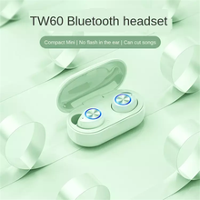 Noise Reduction TW60 9D Stereo Sports Waterproof Earbuds Bluetooth Headset TWS Wireless Sports Mini Game In-Ear Wireless Headset