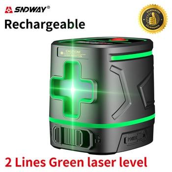 Sndway, láser verde recargable, Nivel 2 líneas, instrumento de Nivel láser de...