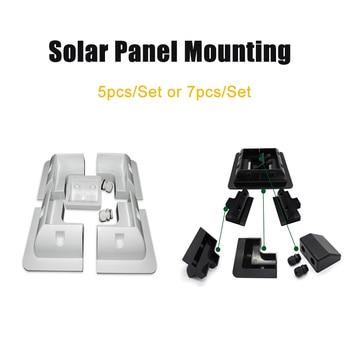 Soportes de montaje de Panel Solar, 5/7 Uds., negro/blanco ABS, conjunto de marco y pasa cable Campervan, montaje de techo para soporte Solar 1