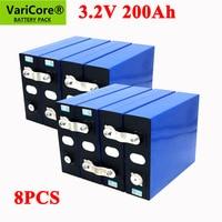 Batteria al litio 8pcs 3.2V 200Ah LiFePO4 3.2v 3C batteria al litio ferro fosfato per batteria 4s 12V 24V inverter veicolo Yacht RV