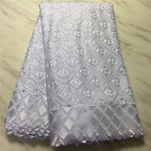 Newest White African cotton Lace Fabric high quality 2020 Swiss Voile Lace In Switzerland With Stones for Men and Women RG967