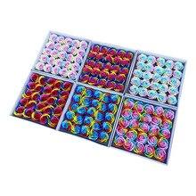 25ピース/セットカラフルな石鹸ローズ装飾花石鹸花びら結婚式の好意バレンタインデーのギフトレインボーローズブーケ