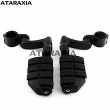 Motorcycle Dually Highway Clamp Foot Pegs Footrest Foot Pegs Mount For Harley Sportster GoldWing GL1800 VN800 Z900 Cafe Racer
